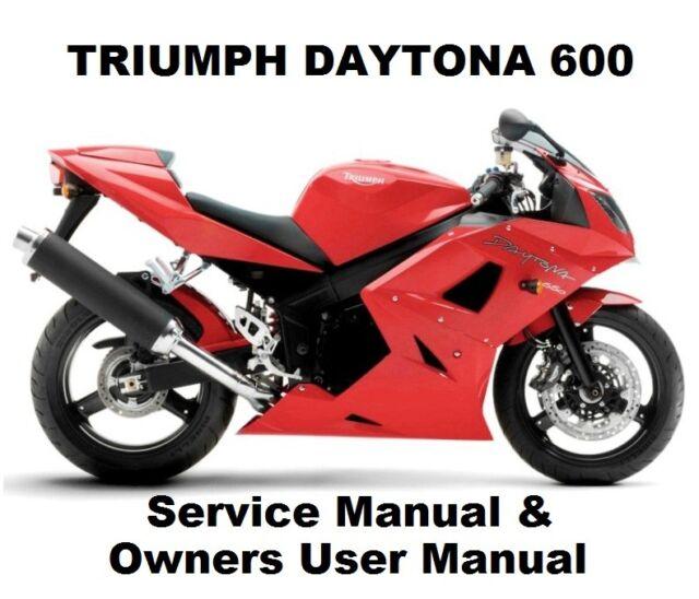 triumph daytona 600 650 owners workshop service repair manual pdf rh ebay com Triumph Car 04 Triumph Daytona 600