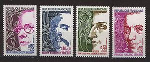 FRANCIA-FRANCE-1974-MNH-SC-B473-476-Famous-men