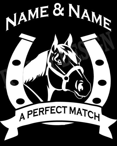 Personalised Pony Horse And Rider Hoody Hoodie Add 2 Names Adults /& Kids