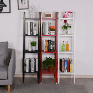 Industrial-4-Tier-Ladder-Storage-Shelves-Bookshelf-Shelf-Corner-Display-Plants