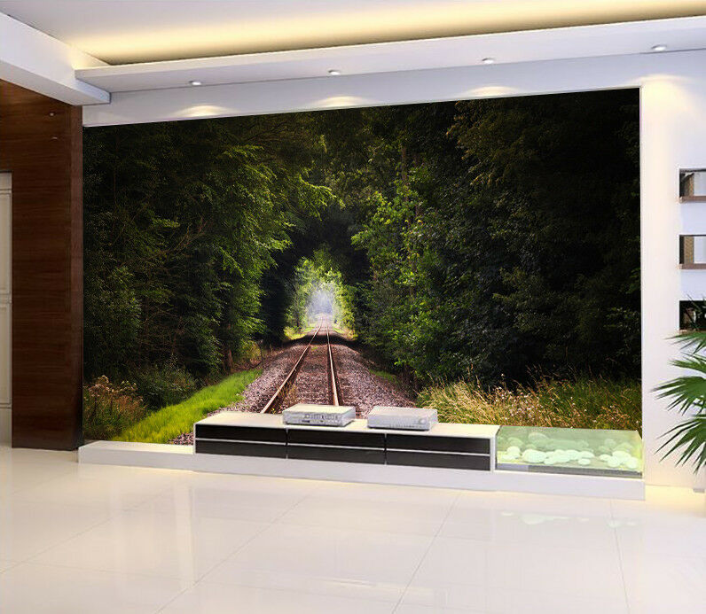 3D greene Holzspur 662 Tapete Tapeten Mauer Foto Familie Tapete Wandgemälde DE