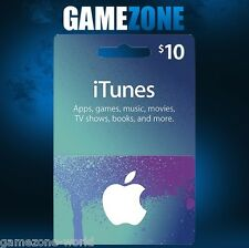 iTunes Gift Card $10 USD USA Apple iTunes Voucher Code 10 Dollars United States