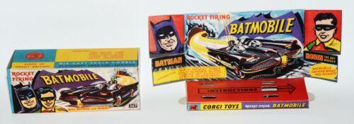 Rocket Firing Batmobile mit Innendisplay Reprobox Corgi Toys Nr 267
