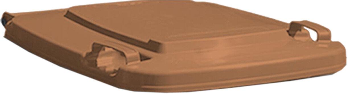 Lid for wheelie bins SULO braun standard plastic lid selective waste sorting