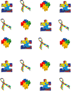 Image Is Loading Autism Ribbon Puzzle Piece Waterslide Nail Decals
