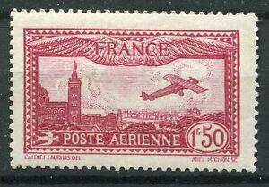 TIMBRE-FRANCE-PA-POSTE-AERIENNE-N-5-AVION-SURVOLANT-MARSEILLE