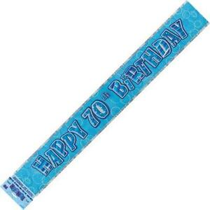 GLITZ-BLUE-HAPPY-70TH-BIRTHDAY-FOIL-BANNER-3-6M-12-039-B-039-DAY-PARTY-PLASTIC-BANNER
