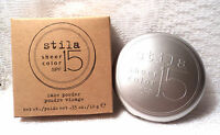Stila Sheer Color Face Powder Compact With Puff - Spf 15 - Shade 1 - New/boxed