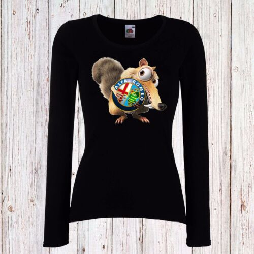 ALFA ROMEO ICE AGE WOMEN T-SHIRT SCRAT FUN LONG//SHORT