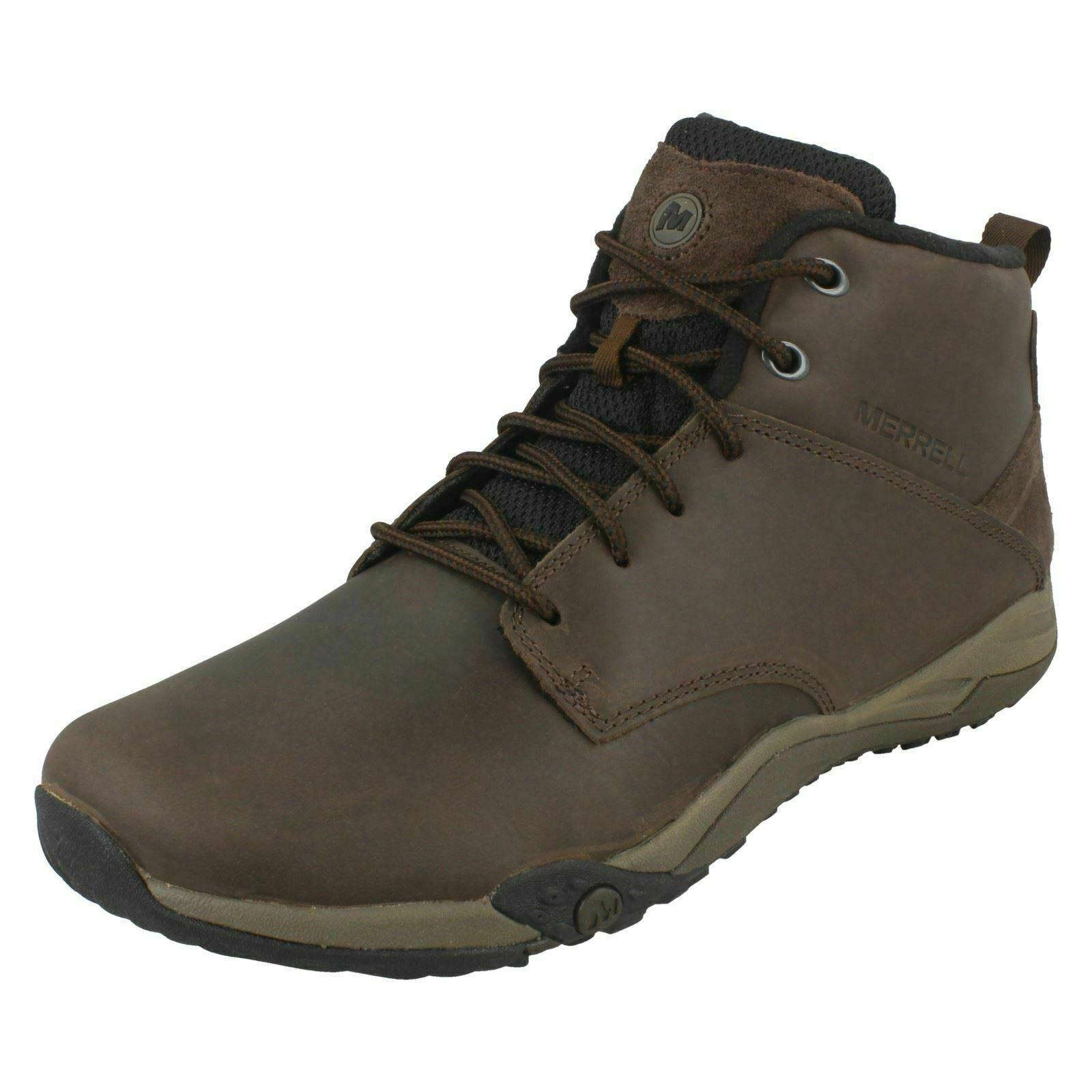 Para Hombre Merrell Helixer Morph Frost botas Con Cordones Cuero Marrón-J598619