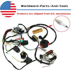 50CC-125CC CDI Wire Harness Stator Assembly Wiring Kit for ATV Electric Quad  | eBayeBay