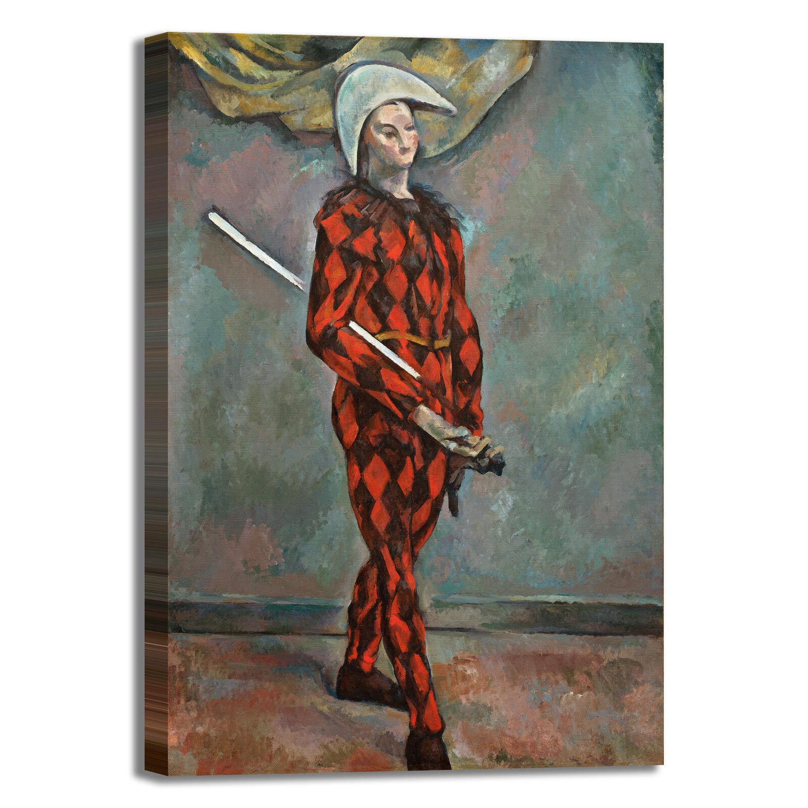 Cezanne arlecchino design tela quadro stampa tela design dipinto con telaio arRouge o casa d91a0d