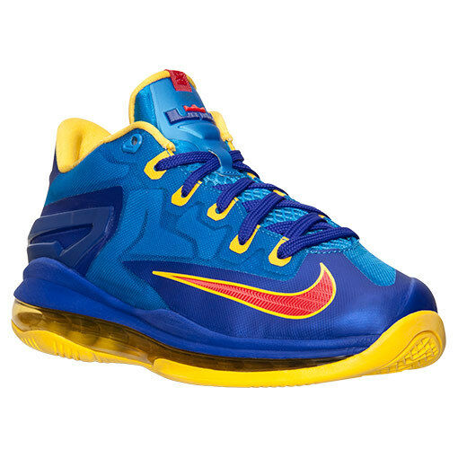 NIKE MAX LEBRON XI LOW SZ: 6.0 Y SAME AS WOMAN SZ: 7.5 PHOTO BLUE NEW AUTHENTIC