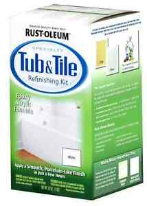 Bathtub Title Tub Tile Refinish Paint Kit Rust oleum White Enamil ...