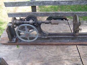 Antique-Champion-Blower-amp-Forge-Post-Drill-Press-Primitive-Shop-Barn-Garage-Tool