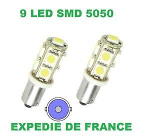 2 AMPOULES LED MERCEDES 190  BA9S T4W 5 SMD BLANC 6000K