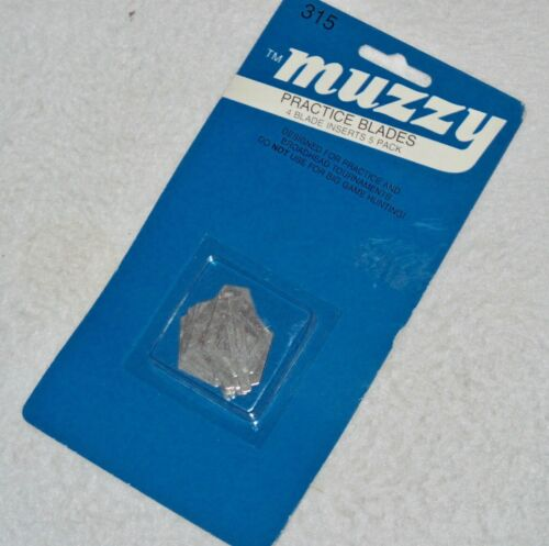 Muzzy #315 Practice 4 Blade 1 inch wide Bow Hunting Inserts 5 Pack