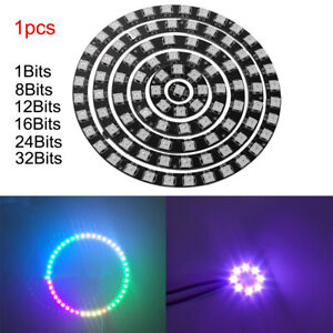 WS2812B-5050-RGB-LED-Ring-1-32Bit-Built-in-Integrated-Drivers-Addressable-Panel