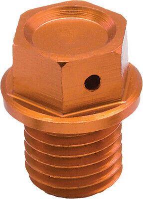 ZETA Anodized Aluminum Orange Magnetic Oil Drain Bolt M12x12-P1.5