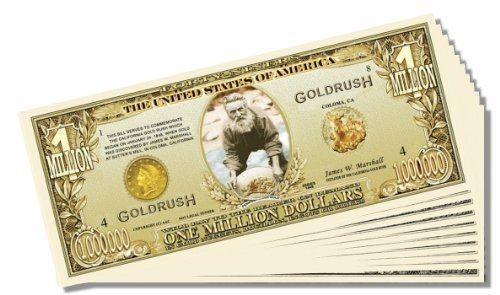 Set of 25 With 1 Bonus Christ California Gold Rush Novelty Million Dollar Bill