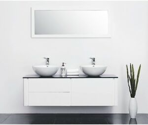 Doppelwaschtisch aufsatzwaschbecken  Modernes Doppel Waschtisch Kimia hochglanz Aufsatzwaschbecken ...