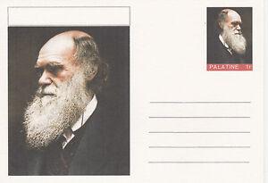 CINDERELLA - 3934- CHARLES DARWIN featured on fantasy Postal Stationery card