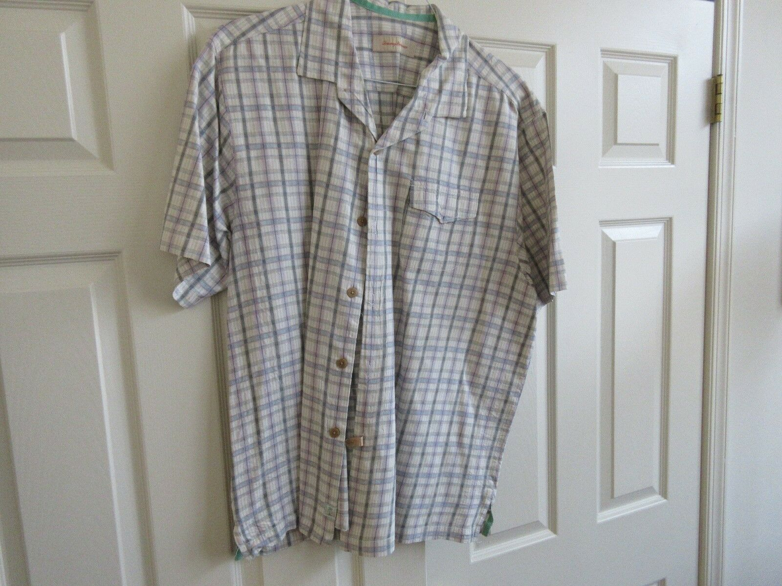 Tommy Bahama , Men's Short Sleeve Shirt , XL/TG, 100% S