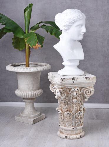 Venus Figur Antike Gartenskulptur Büste Frauenbüste Weiss Göttin Balkonfigur