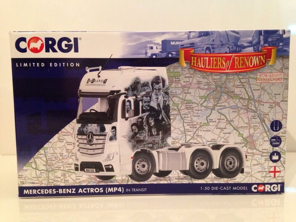 Corgi CC15809 Mercedes-Benz Actros (MP4) Tractor Unit In Transit 1 50 Scale New