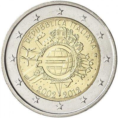"Estonia 2 euro 2012 /""TYE Ten Years Euro Cash/"" BiMetallic UNC"
