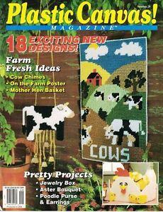 Plastic-Canvas-Magazine-No-28-Cow-Chimes-Mother-Hen-Basket-Poodle-Purse-amp-More