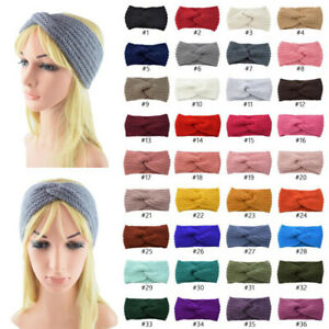 Women-Girl-Winter-Warm-Cross-Crochet-Knitted-Soft-Headband-Hair-Band-Accessories