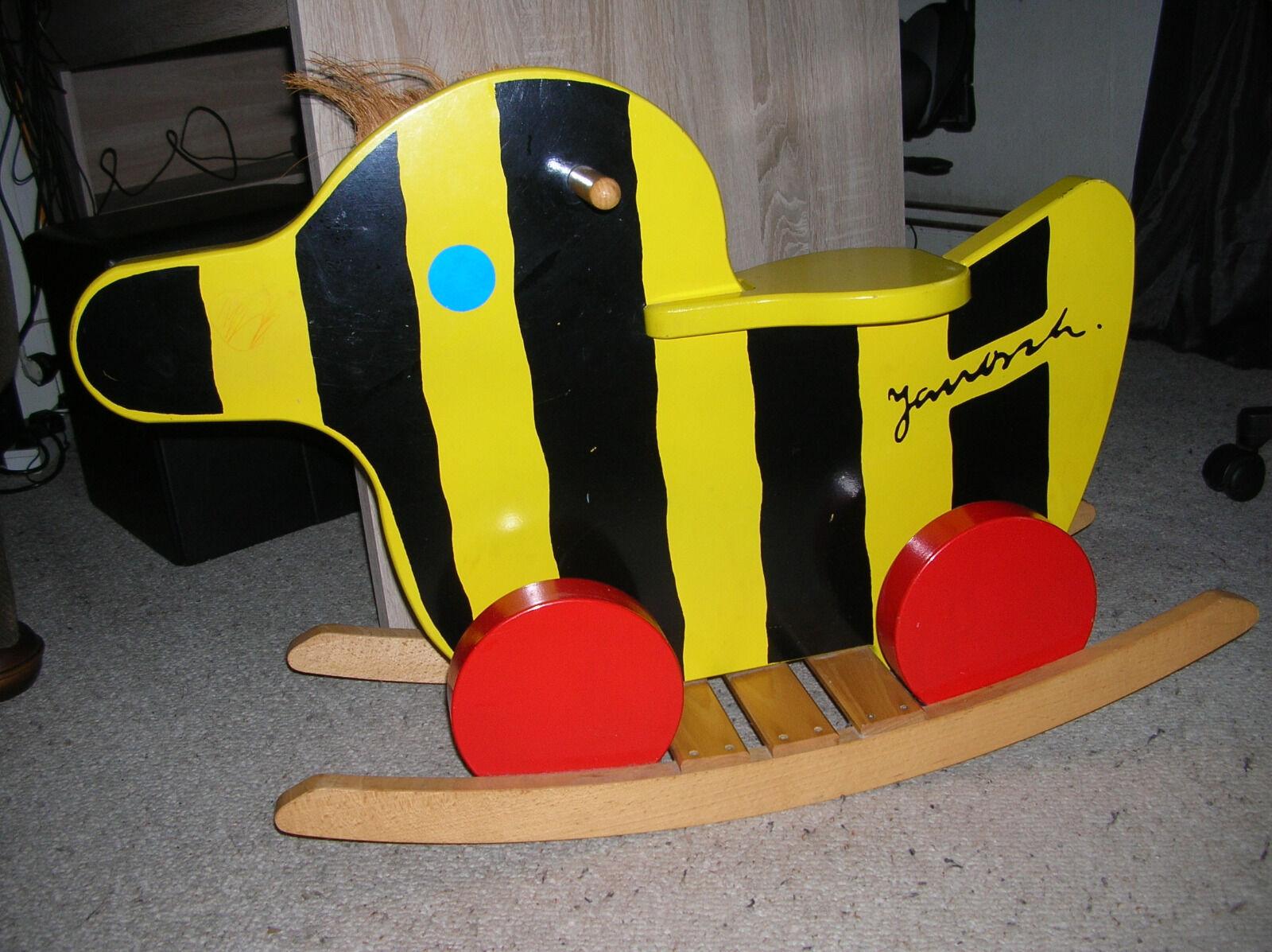 Janosch Schaukelente Kinder Fahrzeug Holzente Massiv Rarität Schaukelpferd