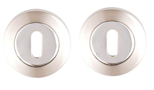 ORPHEUS Dual Satin Nickel //Chrome Lever on Rose Door Handles Accessories 3635