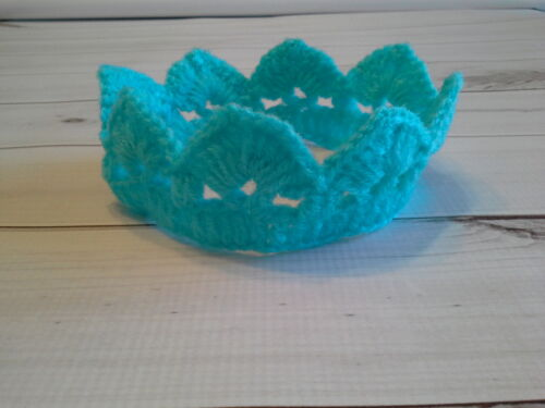 crochet photo prop crown prince princess baby infant photography turquoise