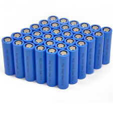 36pcs 18650 3.7V 2200mAh Lithium Li-ion Rechargeable Battery Flat Top PKCELL