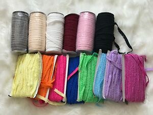 Soft Double Ruffles Fold Over Elastic Roll 20 Metres 15 mm Headbands Baby Lot