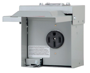 Eaton-50-Amp-Outdoor-Temporary-Power-Panel-Heavy-Duty-RV-Power-Outlet-Steel-Box