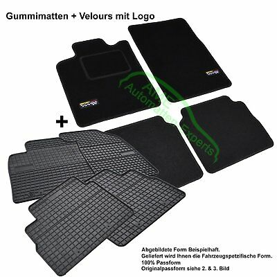 Car Mats + Rubber Mats Set for OPEL VECTRA B (Saloon+Estate) yr. bj.1995-2002