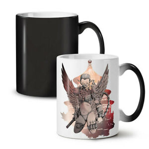 Cyborg Warrior Fantasy NEW Colour Changing Tea Coffee Mug 11 oz | Wellcoda