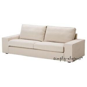 Ikea cover for kivik sofa 3 seat sofa ingebo light beige for Ikea sofa slipcovers discontinued