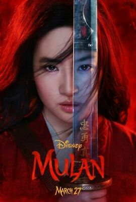 Mulan Disney Movie Niki Caro Jet Li Yifei Liu Silk Canvas Poster Print 24x36 /'/'