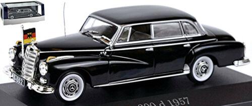 Mercedes Benz 300 d Adenauer-Mercedes 1951-57 W 186 II schwarz black 1:43 Atlas