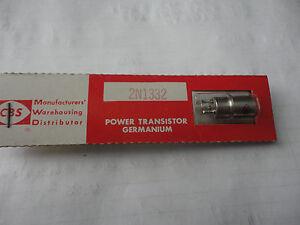 1PC. 2N1332 VINTAGE GERMANIUM POWER TRANSISTOR