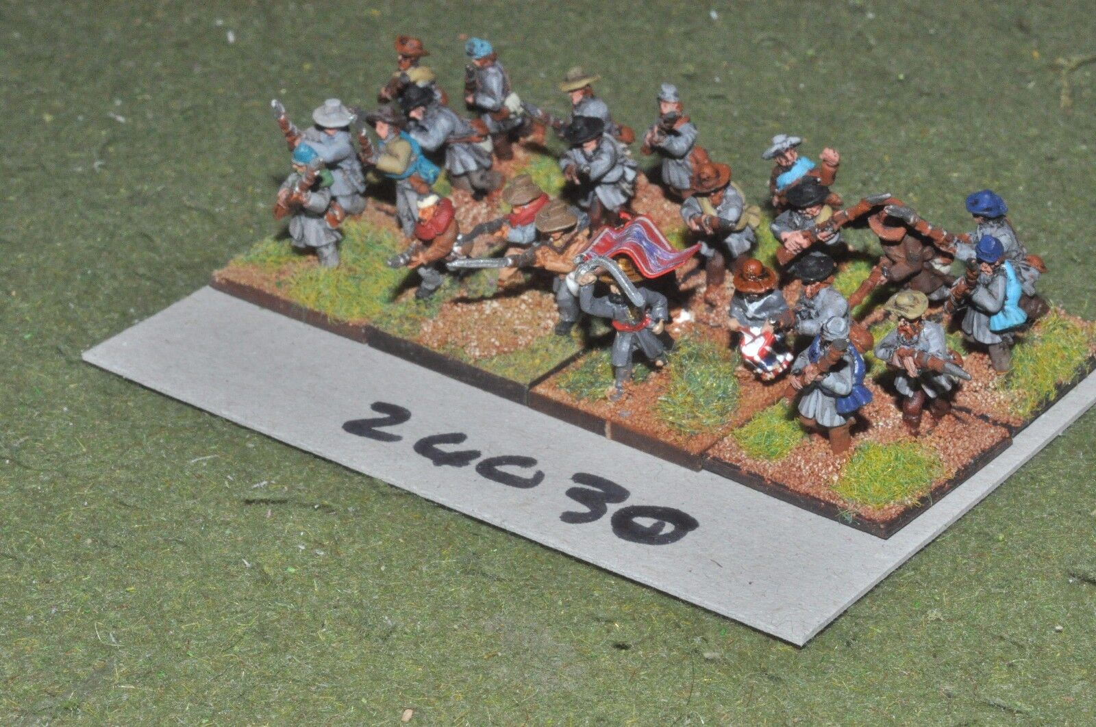 15mm ACW   confederate - regiment 24 figures - inf (24030)