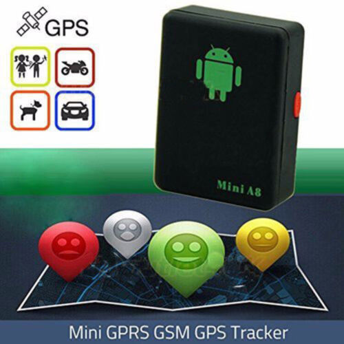 A8 Black Mini GPS Real Time Tracker Car Kids Pet Safety Anti-lost Locator Device