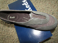 Keds Brown Luster Shoes Womens 7.5 Wh45045 Sneakers Free Ship Slip On Loafer
