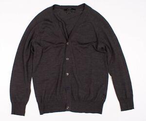 Mens Tiger Of Sweden Kofta Til Herr Button Cardigan Sweater In Gray Size XL