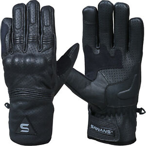 SAWANS-Leather-Summer-Motorcycle-Motorbike-Gloves-Winter-CE-Knuckle-All-weather