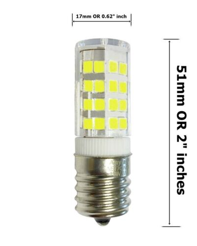 2-Pack Anyray Microwave LED Light Bulb for Appliance E17 4W Oven Bulbs 40 Watts